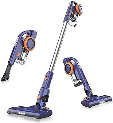 ORFELD Cordless Vacuum, 18000pa Stick Vacuum 4 in 1, Up to 50 Minutes Runtime, with Dual Digital Motor for Deep Clean Whole