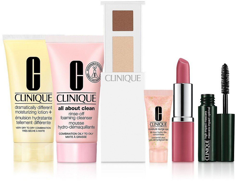 Free 6-Pc. Gift with Any $75 Clinique Purchase. Valued Up to $105!