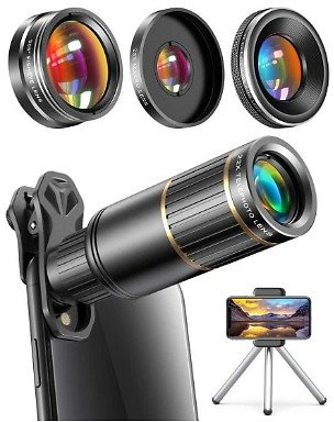 22x Telephoto Lens Kit for Phone Cameras - Yes It Works for IPhones AND Android Phones! - Take Much, Much Better Zoomed Photos! Order 2 or More and SHIPPING IS FREE! - 13 Deals