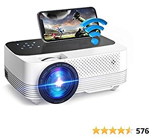 VicTsing Home Projector, 6000L WIFI Movie Projector, 1080P Wireless Mini Portable Theater Projector, Compatible with Audio, AV, USB, HDMI, SD, PS4