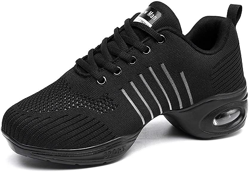 Women's Jazz Shoes Lace-up Sneakers