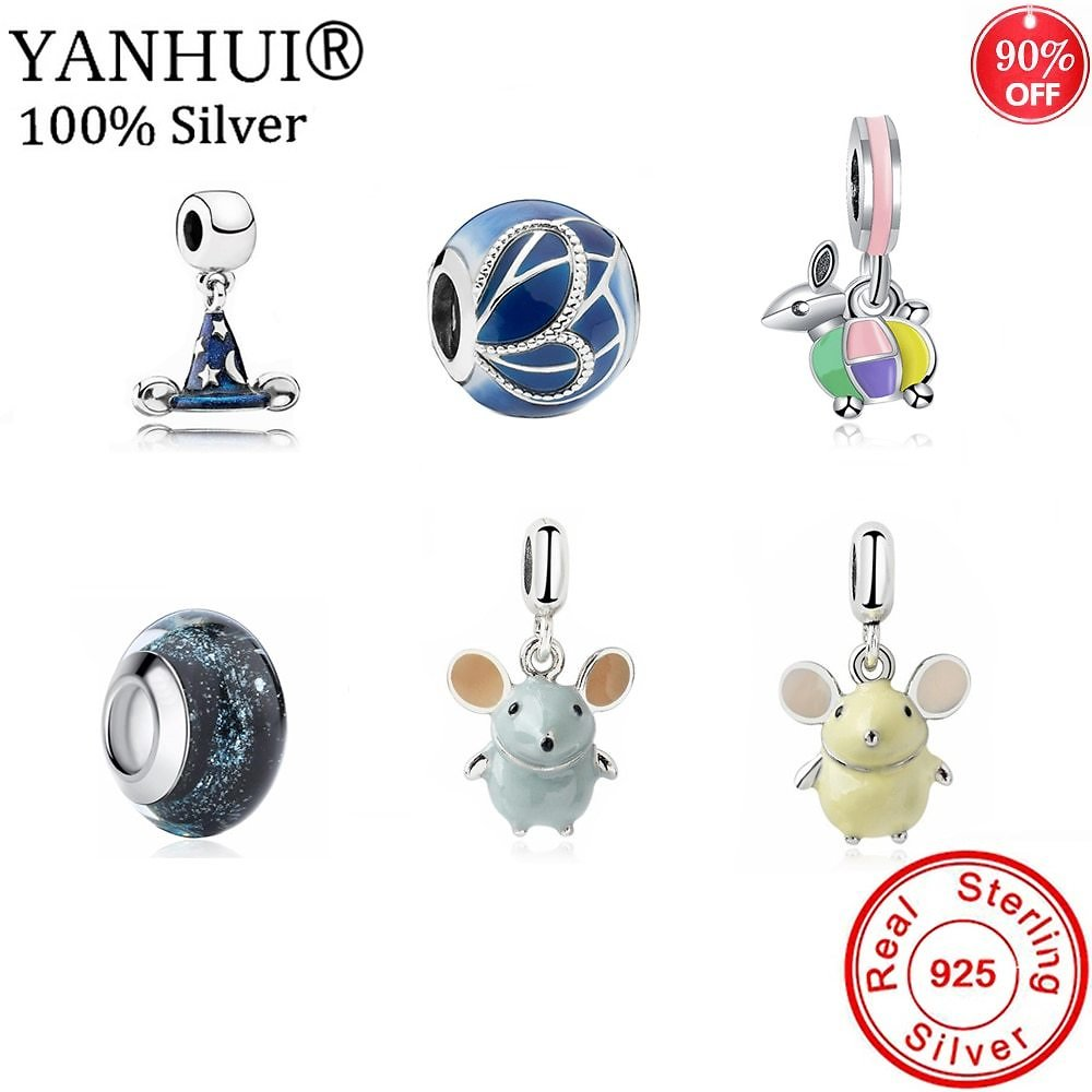 3.49US $ 93% OFF YANHUI 2021 New Design Silver Color Beads Charms Pendants Fit Original Charms Bracelets DIY Gift Jewelry C011 Charms  - AliExpress