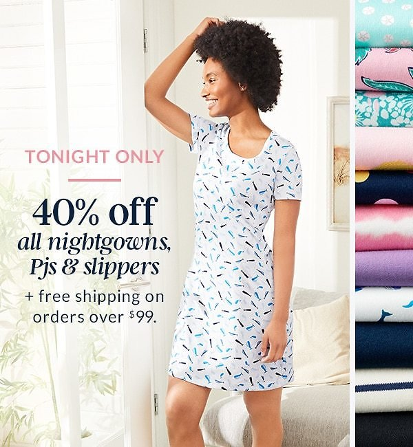 40% Off All Nigtgowns, Pjs & Slippers - Land's End