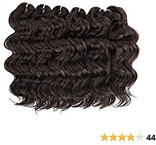 9 Inch Ocean Wave Crochet Braids Braiding Hair Extension Short Wave Synthetic Braids Hair Extension(#4,6PCS)