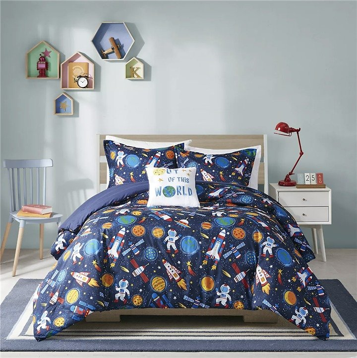 Floral Reversible Comforter Set with Shams (Twin/TwinXL)