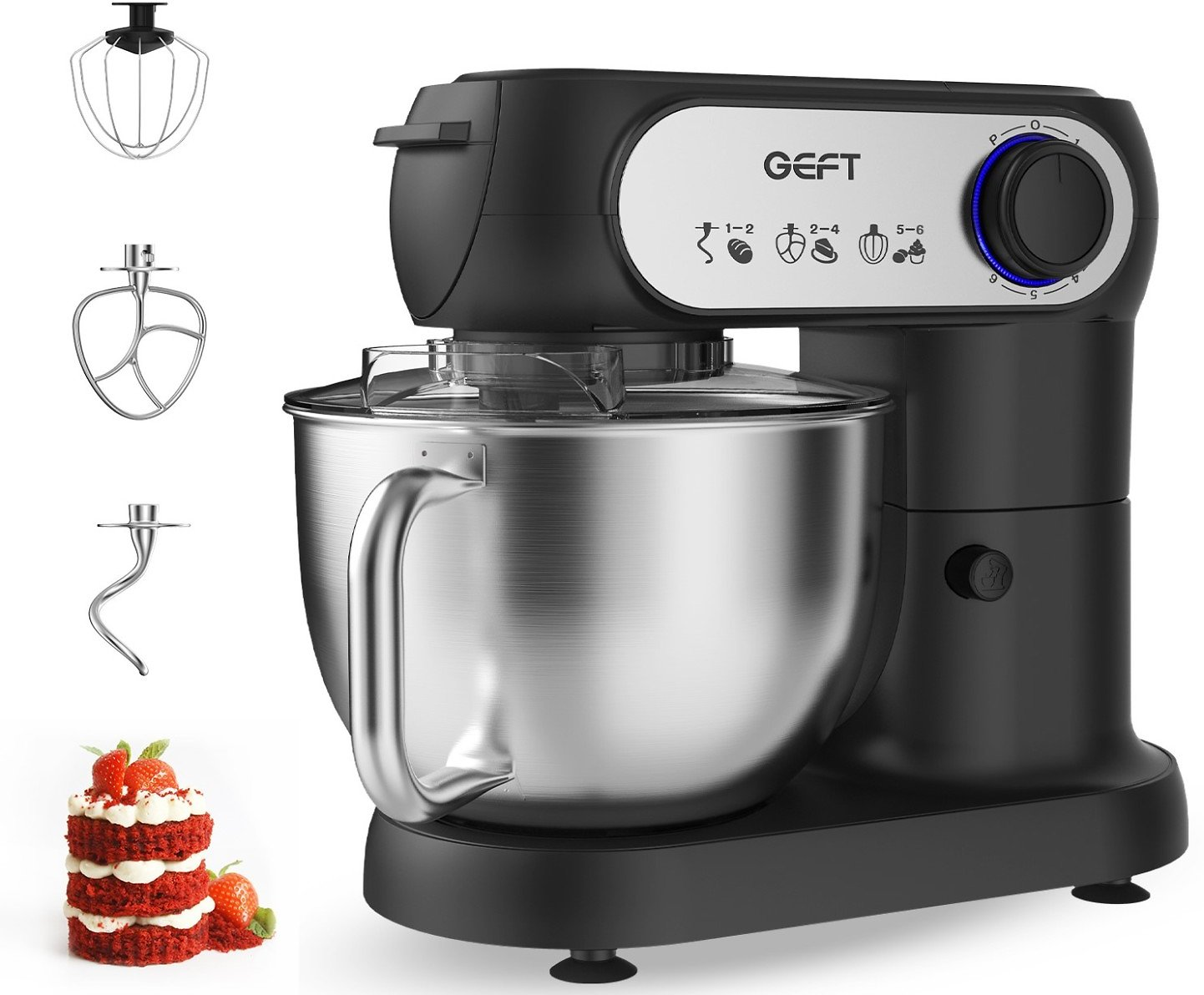 $40 Off GEFT 5.8QT 600W 6-Speed Electric Stand Mixer