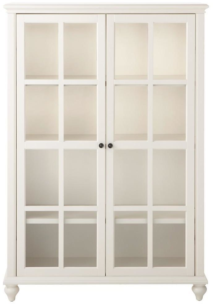 Home Decorators Collection 60 In. Polar White Wood 4-shelf Standard Bookcase with Adjustable Shelves-9787300410