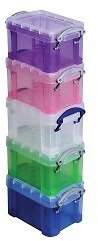 5 Pack Really Useful Box Plastic Storage Container