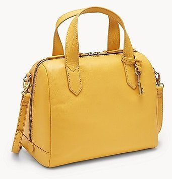 Fossil Golden Yellow Fiona Leather Satchels