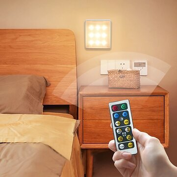 3Pcs LED Wall Light Dimming Timing Press Remote Control Lamp Aisle Stairs Corridor Bracket to Place Cabinet Lights