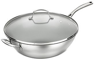 Cuisinart Forever Stainless 14-inch Non-Stick Stir Fry Pan & Lid