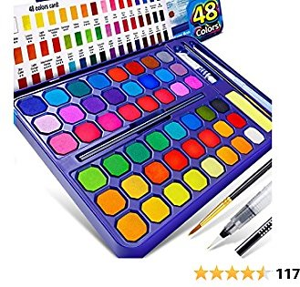 $11.75 for a 48 Vibrant Colors Watercolor Paint Set, 8 in 1