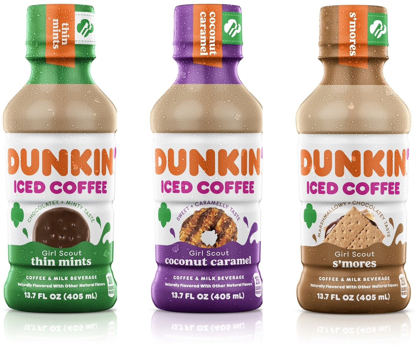 Dunkin' Launches Three New Girl Scout Cookie Inspired Bottled Iced Coffees