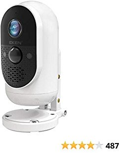 EKEN Wireless Security Camera Outdoor Indoor, Detachable Battery, 1080P with PIR Motion Detection, Night Vision Home Surveillance WiFi Camera, 2-Way Audio, Waterproof, 1-Year Free Cloud Storage