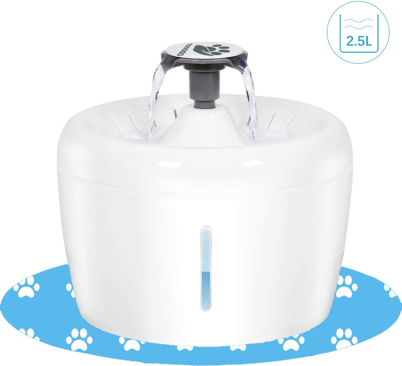 TOOOGO Cat Water Fountain, 84oz/2.5L Dog Water Dispenser Ultra Silent Hygienic Pet Water Fountain for Cats, Dogs and Small Anima