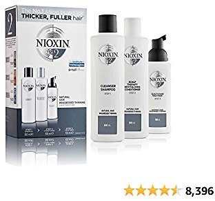 Nioxin Full-Size System Kits 2, 4, & 6, 3-Pc Hair Loss Shampoo, Conditioner & Scalp Treatment, For Progressed to Advanced Thinning Hair, 3 Month Supply