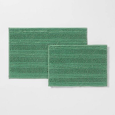 2-Pack Room Essentials Chenille Bath Rug