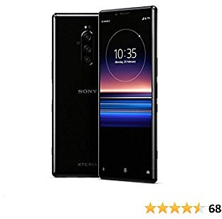 Sony Xperia 1 J9110 Dual-SIM 128GB/6GB Dual Sim - International Model - No Warranty in The USA - GSM ONLY, NO CDMA (Black)