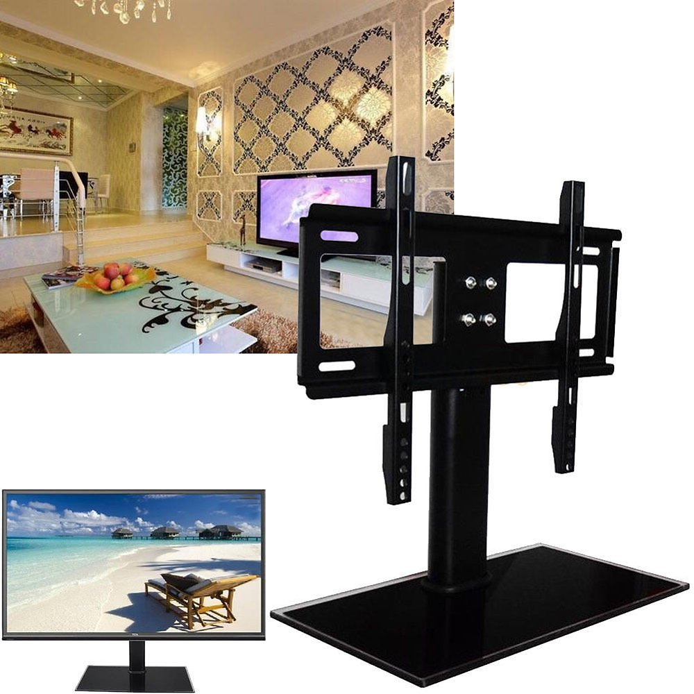 OTVIAP TV Table Bracket,37-55inch Universal LED LCD Flat Screen TV Table Bracket With Stand/Base for 37 -55 TV