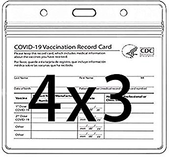 3-Pcs. Clear CDC Vaccination Card Protector (4