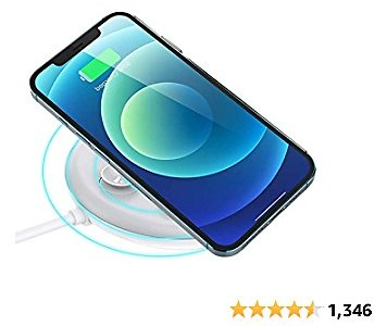 Magnetic Wireless Fast Charger, USB-C Fast Charging 10W Wireless Charger Compatible with IPhone 12/12 Mini/12 Pro/12 Pro Max, Airpods Pro