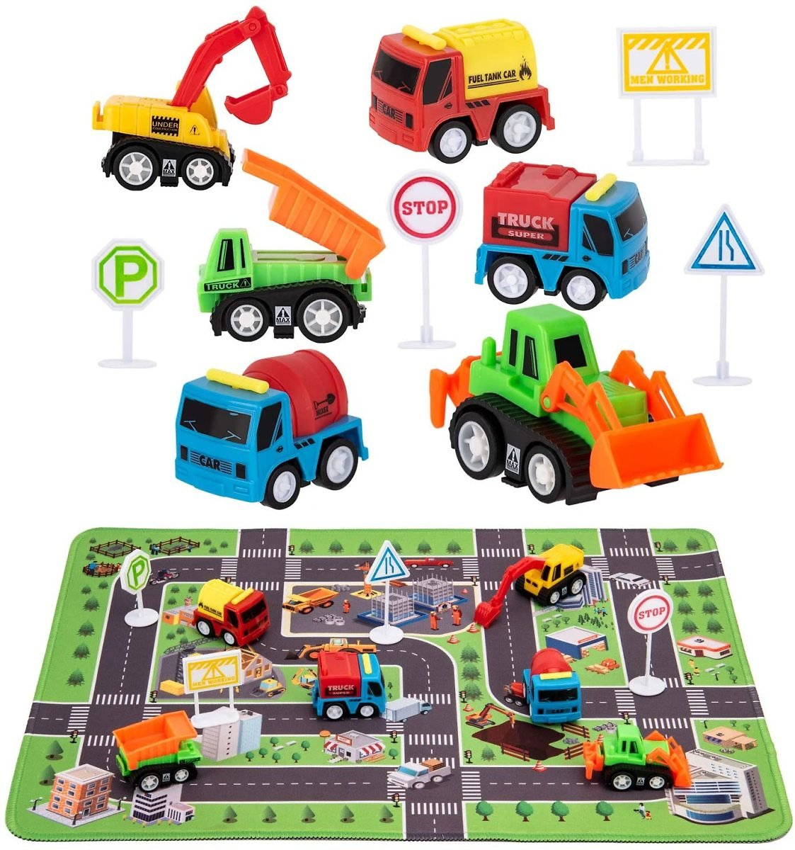Construction Toys Set with Play Mat