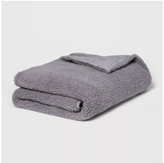 50-in X 70-in Sherpa Weighted Blanket W/Cover