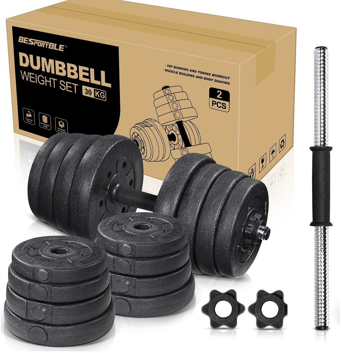 Esportble 66LB Adjustable Dumbbell Weight Sets