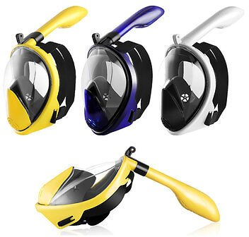 Foldable Anti Fog Snorkeling Panoramic Diving Mask All-Dry Full Face Diving Mask Gopros Mount Underwater Diving Mask Swimming Adult Kids