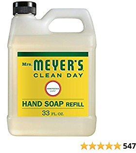 Mrs. Meyer's Clean Day Liquid Hand Soap Refill, Cruelty Free and Biodegradable Hand Wash Made with Essential Oils, Honeysuckle Scent, 33 Oz - Pack of 6
