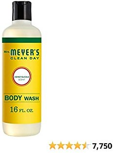 Mrs. Meyer's Clean Day Moisturizing Body Wash for Women and Men, Cruelty Free and Biodegradable Shower Gel Made with Essential Oils, Honeysuckle Scent, 16 Oz