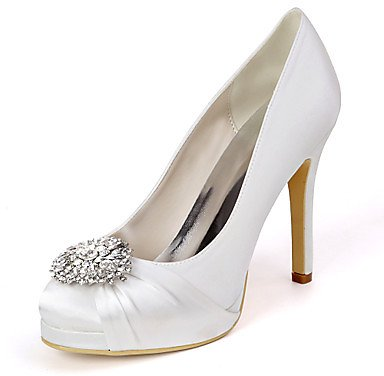 Women's Wedding Shoes Stiletto Heel Round Toe Minimalism Wedding Party