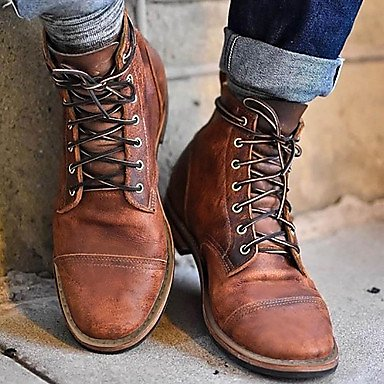 Men's Boots Combat Boots Motorcycle Boots Martin Boots Vintage Daily Microfiber