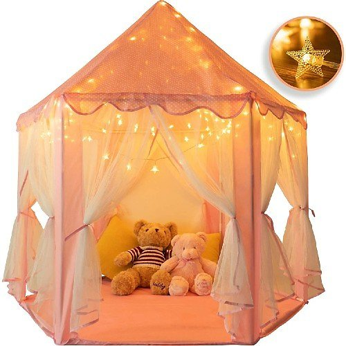 Rettebovon Princess Castle Tents with Star Lights Toys