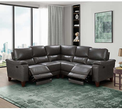 Rizzo Heights Leather Power Reclining Sectional with Power Headrests