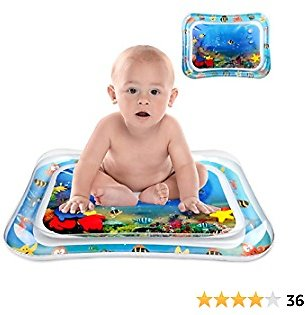 SLHFPX Tummy Time Toys for Toddlers 1-3,Water Toys for 2 Year Old Boys Baby Activity Play Mat Birthday Gifts for 1 Year Old Boys Tummy Time Mat for 1 2 3 Year Old Boy Gifts Blue