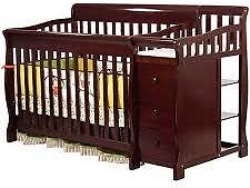 41% Off Convertible Crib and Changer, Cherry