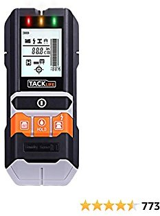 TACKLIFE Stud Finder, 5 in 1 Multi-Functional Center Finding Wall Scanner Detector with LCD Display, Sound Warning for Wood Stud