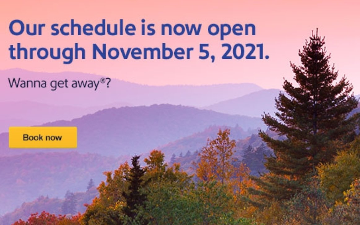 Schedule Is Open Through Nov. 5 | Southwest Airlines