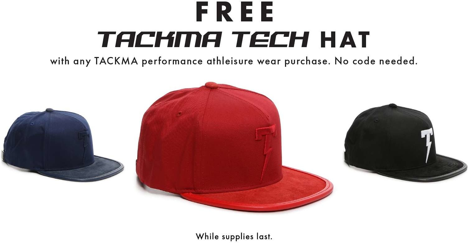 Free Tackma Tech Hat With Purchase