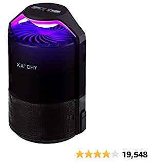 KATCHY Indoor Insect and Flying Bugs Trap Fruit Fly Gnat Mosquito Killer with UV Light Fan Sticky Glue Boards No Zapper