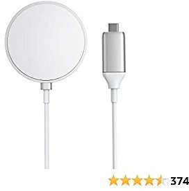 Magnetic Wireless Charger, Anker Wireless Charger with 5ft Built in USB-C Cable, PowerWave Magnetic Pad Only for IPhone