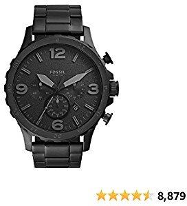 Fossil Men's Nate Stainless Steel Quartz Chronograph Watch