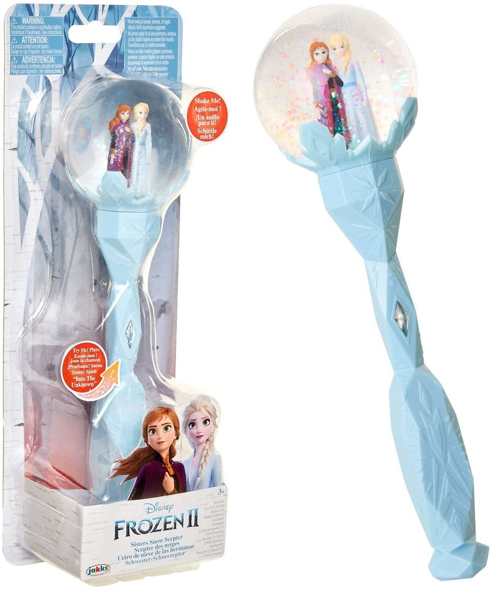 Frozen 2 Sisters Musical Snow Wand Costume Prop Scepter