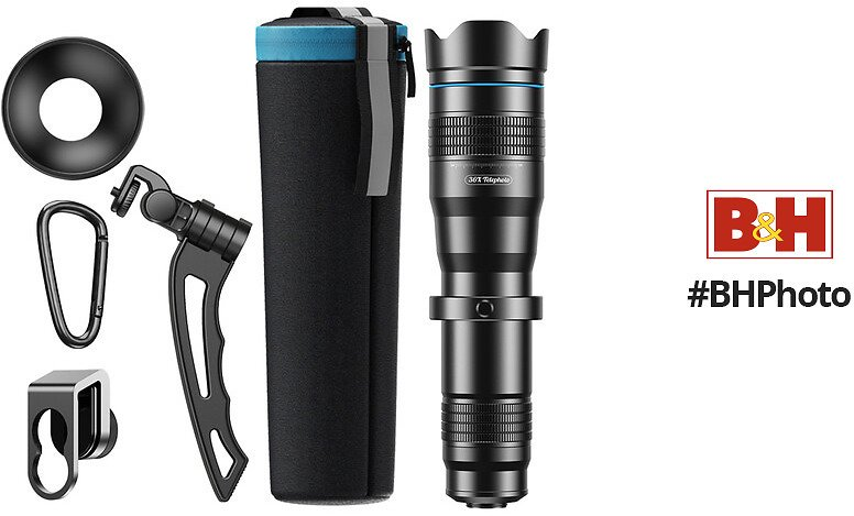Apexel 36x Telephoto Zoom Lens with Tripod for Smartphones
