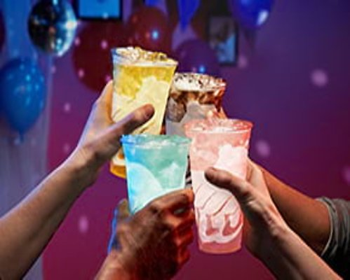 Four Medium Drinks $1 Each! Drinks Party Pack