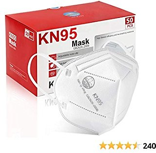 KN95 Face Mask 50Pcs, 5 Layer Design Cup Dust Safety Masks, Breathable Protection Masks Against PM2.5 Dust Bulk for Adult, Men, Women, Indoor, Outdoor Use, White