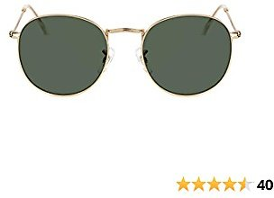TIJN Classic Round Sunglasses Polarized Lens with UV400 Protection for Women Men