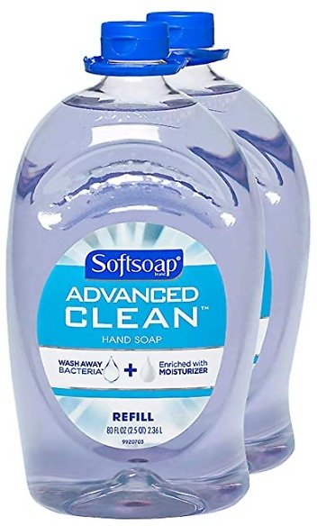 Softsoap Handsoap, Refill, Washes Away Bacteria, 80 Fl Oz (Pack of 2)