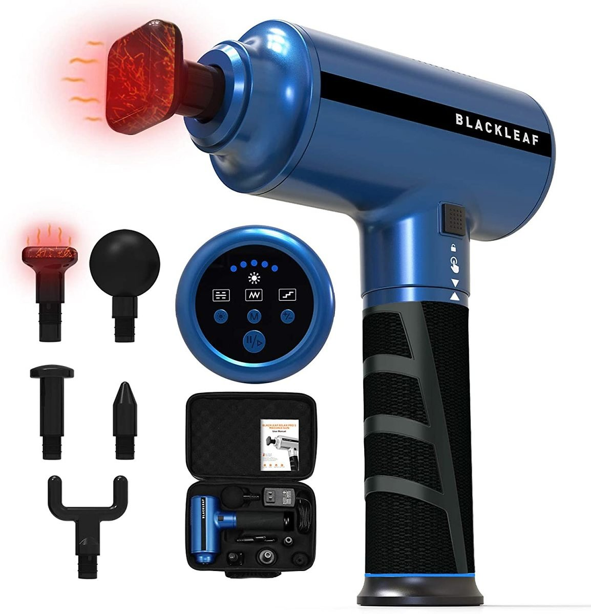 55% Off Heated Massage Gun with 5 Massage Heads $66.64
